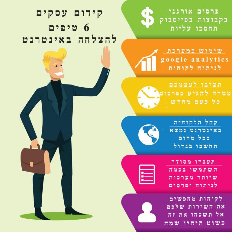 קידום עסקים קטנים - הנה 6 טיפים להצלחה באינטרנט